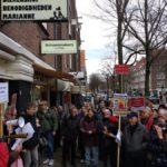 Grote opkomst protestactie tegen verkoop sociale huurwoningen