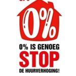 Oproep aan de Woningcorporaties tot het niet verhogen van de huur